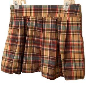 Zinc Junior's Plaid Mini Skirt Size 5